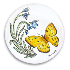 openonlus-bomboniere-solidali-formella-coppola-farfalla-gialla
