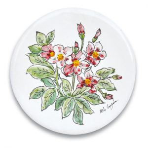 openonlus-bomboniere-solidali-formella-coppola-fiori-rosa