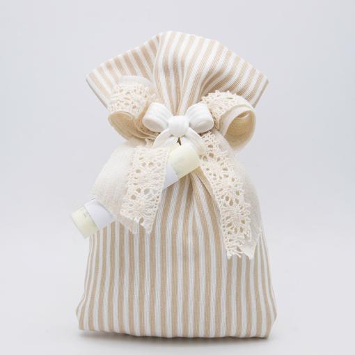 openonlus-bomboniere-solidali-saccetto-cotone-righe-bianco-beige