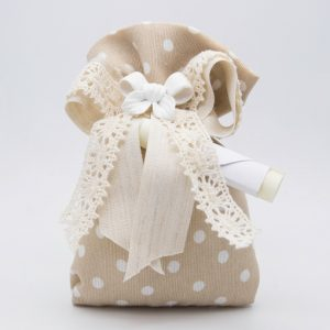 openonlus-bomboniere-solidali-sacchetto-cotone-beige-pois-bianchi