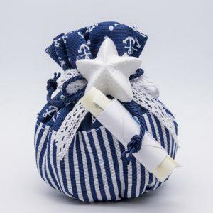 openonlus-bomboniere-solidali-sacchetto-righe-ancore-blu